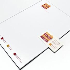 Briefbogen + Visitenkarte einer therapeutischen Praxis