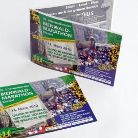 Ausschreibungs-Broschüre zum Bienwald-Marathon
