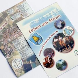 """Flyer für die """"Schlemmermeile Neupotz"""" am Riesling-Zander-Radweg"""