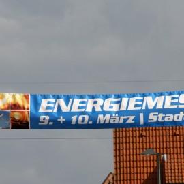 Straßenbanner zur Energiemesse in Kandel