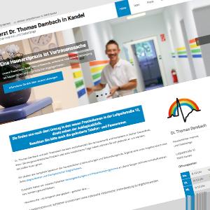 Homepage einer Hausarztpraxis