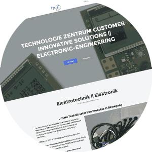 Homepage für Elektronikunternehmen